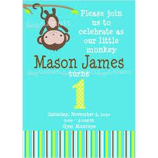 printable baby shower invitations for boys monkey printable birthday or shower invitation dimple prints shop