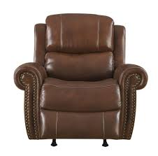 Klaussner International Alomar Chocolate Leather Power Reclining Chair Living Rooms
