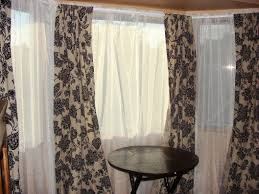 interesting bay window curtain ideas best house design
