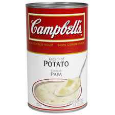 Canned cream of potato condensed soup