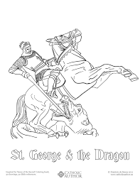 st george u0026 the dragon free hand drawn catholic coloring