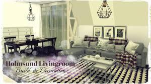sims 4 holmsund livingroom build u0026 decoration youtube