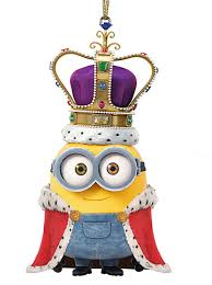 despicable me king bob minion christmas holiday ornament 2 25