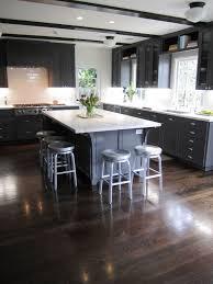 kitchen cabinets white perimeter cabinets dark island decorative