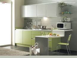 Glass Shelves Kitchen Cabinets Interior Modern White And Green Kitchen Cabinet Set Ideas With