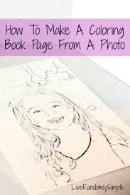 how to coloring book page from a photo live randomly simple