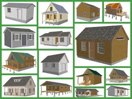 Small Cabin Floor Plans Free Small Cabin And Bunk House Plans And Blueprints