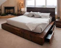 King Platform Bed Plans With Drawers by Best 25 Wood Platform Bed Ideas On Pinterest Platform Beds