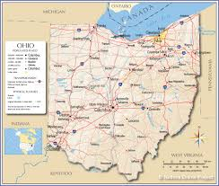 Map Of Detroit Metro Airport by Reference Map Of Ohio Usa Nations Online Project