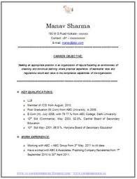 Secretary Resume Sample by Resume Format For Experienced Company Secretary 2 Career