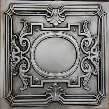 pl15 faux tin antiqued silver ceiling tiles tea bar decor wall