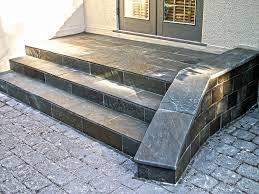 fascinating outdoor patio flooring with natural stone design