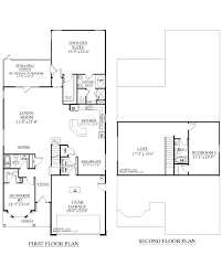 Floor Plans With Loft Two Story House Plans With Loft Homes Zone