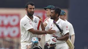 Cheteshwar Pujara       and Wriddhiman Saha       steered India to     for Deccan Chronicle