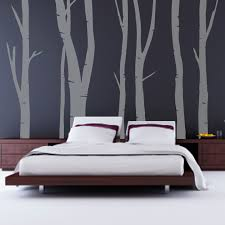Art On Walls Home Decorating by Bedroom Dark Grey Artsitic Tree Stem Wallpaper In Bedroom Wall