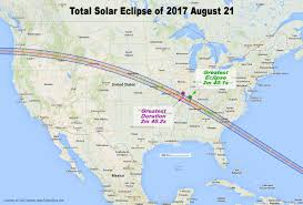 Google Map Usa by Total Eclipse Of The Sun August 21 2017
