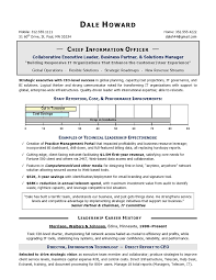 CIO Sample Resume  Chief Information Officer Resume  IT resume service  amp  executive resume service  An Expert Resume