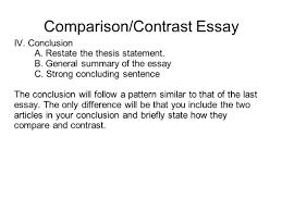 Conclusion paragraph comparison contrast essay