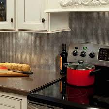 kitchen fasade backsplash rib in crosshatch silver kitchen b5221