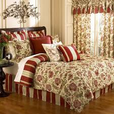 Red King Comforter Sets Amazon Com Waverly Imperial Dress Brick King Comforter Set