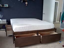 bedroom california king bed frame with storage all wooden frames
