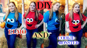 Cookie Monster Halloween Costumes easy and fast halloween costumes diy elmo u0026 cookie monster