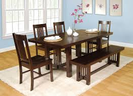 Brown Dining Room Table Dining Room Amazing Dining Room Table With Bench Dining Table
