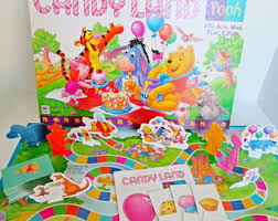 Barbie Dream Date Board Game      features Barbie by Collectique Candy Land Pooh Board Game     Acre Wood Picnic by Milton Bradley  Truffles Recipe  Pooh and friends Tigger Owl Eeyore Piglet kids candyland