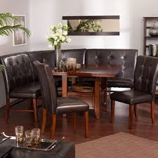 dining room breathtaking luxury black leather dining table with breathtaking luxury black leather dining table with bench sets on glossy wooden flooring ad dining rugs and small black coffee table plus art work pictures