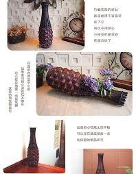kingart bamboo vase large floor vase vintage living room home