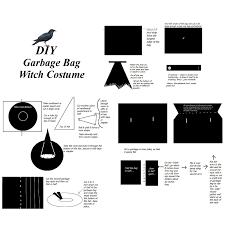 pattern witch costume cmz art diy garbage bag witch costume