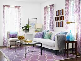 Living Room Curtain Looks Dark Purple Living Room Red Wooden Table Feat Table Lamp Ideas