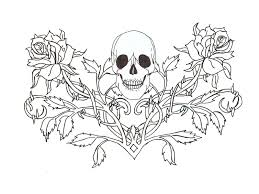 gothic skull tattoo wallpaper coloring pages for adults pinterest