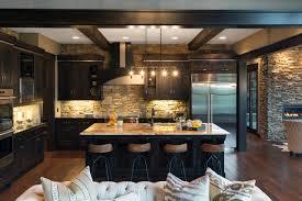 kitchen style rustic kitchen stone backsplash and wall with