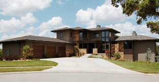 modern prairie style house front elevation contemporary