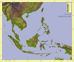 Southeast Map Physical Maps Of Southeast Asia Free Printable Maps