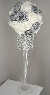 Silver Centerpieces For Table Best 25 Silver Wedding Decorations Ideas On Pinterest Christmas