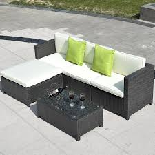 Modern Outdoor Sofa by Costway Outdoor Patio 5pc Furniture Sectional Pe Wicker Rattan