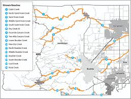 County Map Of Colorado Floodplain Remapping Project Boulder County