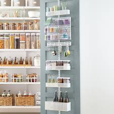 Container Store Bookshelves Over The Door Spice Racks Pantry Racks U0026 Pantry Door Organizers