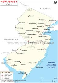 Map Of Pennsylvania And New Jersey by Cities In New Jersey Map Of New Jersey Cities