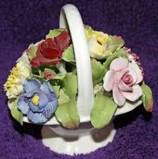 vintage aynsley porcelain flower basket hand by emptynestvintiques