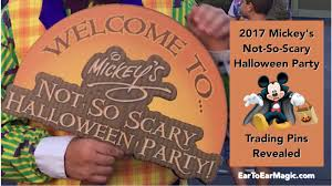 mickeys not so scary halloween party 2017 mickey u0027s not so scary halloween party pins revealed ear to ear