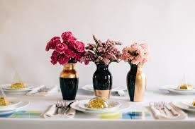 Black Centerpiece Vases by Diy Wedding Centerpieces Gilded Gold Vases A Practical Wedding