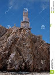 Small Castle by Small Castle On A Cliff Above The Sea Stock Photo Image 45316569