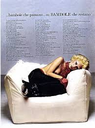Toscani\u0026#39;s original campaign (above), which featured bleach-blonde, heavily made-up and bare-breasted model Donna Jordan nestling seductively in an armchair, ... - advert-1108