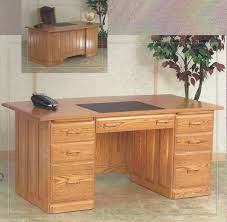 Solid Oak Office Furniture by Home Office Furniture Flat Top Desks