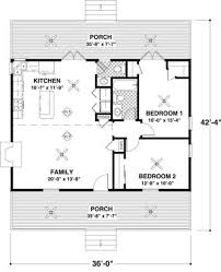 cottage 2 beds 1 5 baths 954 sq ft plan 56 547 main floor plan
