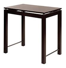 Wooden Kitchen Island Table Amazon Com Winsome Wood Kitchen Island Espresso Tables