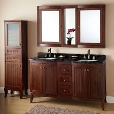 custom rustic brown wooden bathroom cabinet vanity combination